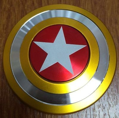 Captain America Shield Fidget Hand Spinner Al Man Toy EDC Focus ADHD Autism Gift For kids
