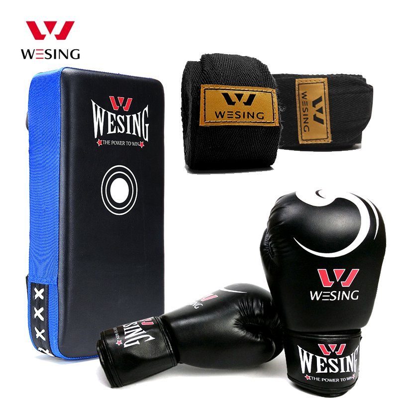 wesing boxing kick pad focus target pad muay thia boxing gloves bandwraps bandage training equipment professional boxing training human simulated head pad gym kicking mitt taekwondo fighting training equipment mma punching target