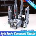 Nueva Lepin 05006 Star Wars Kylo Ren de Mando de Lanzadera brinquedos marvel bloques bloques de construcción de juguetes Educativos juguetes 75104