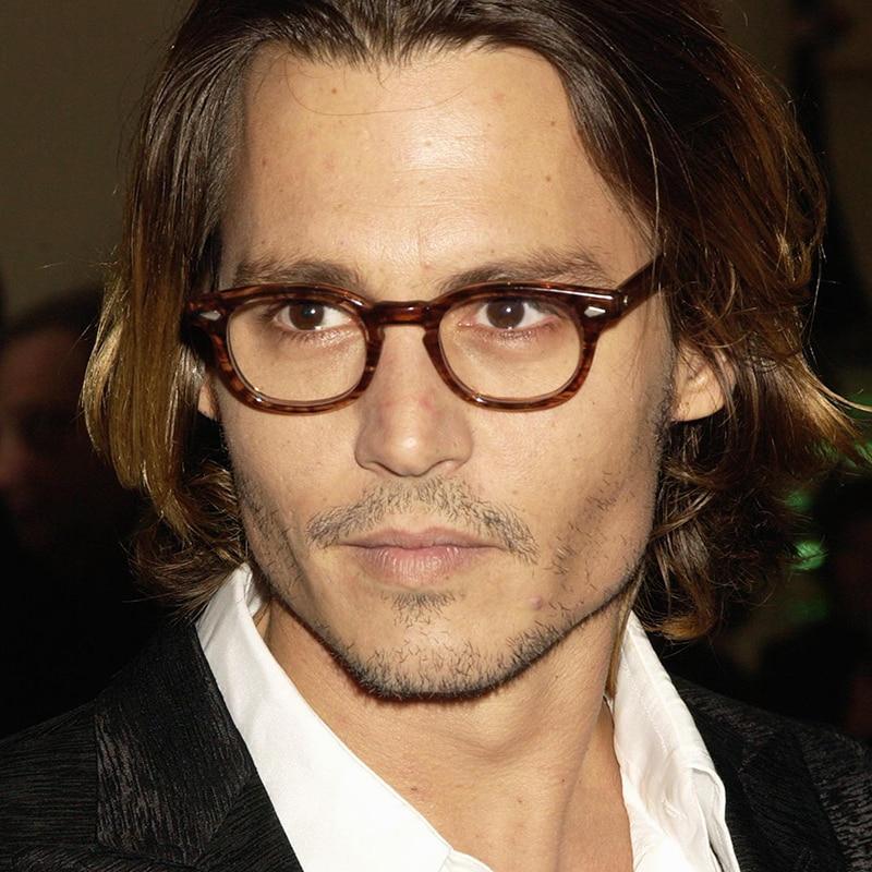 8b4cffa134 Eyeglasses Frame Men Women With Box Case Computer Optical Retro Johnny Depp  Glasses Spectacle Frame For Male