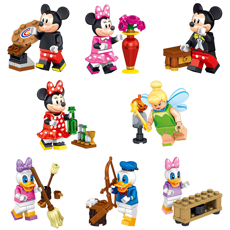 Cartoon Donald Duck Figures Model Building Blocks Kit For Kids Educational Toys Best Gift for Girl Compatible with LegoINGlys dayan gem vi cube speed puzzle magic cubes educational game toys gift for children kids grownups