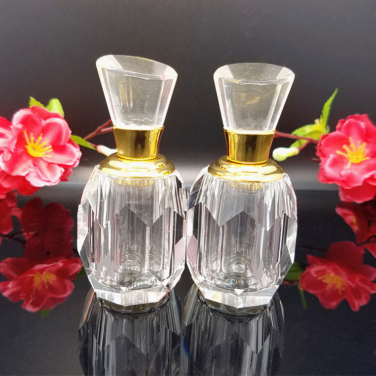 10ml Crystal  Refillable Glass Perfume Bottle w/ Gold Neck,Clear Dropper Glass bottle for Handmade Home Decor Lady Wedding Gift lomond 1209122 80 2 914 175 76