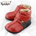 TipsieToes Marca de Moda de Alta Calidad De Cuero Genuino Botas de Lana Niños Zapatos Para Niñas Niños Otoño Invierno 23405 Envío gratis