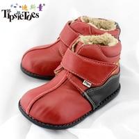 TipsieToes Brand Fashion High Grade Genuine Leather Wool Children Shoes For Girls Kids Autumn Winter Snow