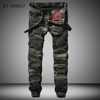 Mens Camouflage Jeans Motocycle Camo Military Slim Fit Biker Jeans With Zippers Men Casual Patchwork Denim