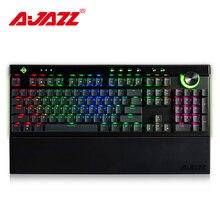 Ajazz AK45 111 клавиши RGB механическая клавиатура коробка черный/коричневый/красный/белый переключатели эргономичная дуга с двухрежимной ручкой и подставкой для запястья