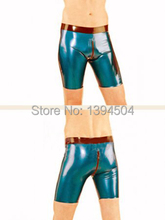2017 Catsuit Sex Products Hot Latex Pants Men Hotpants With Two Way Crotch Zipper Trousers Leggings Free Shipping Fast Delivery