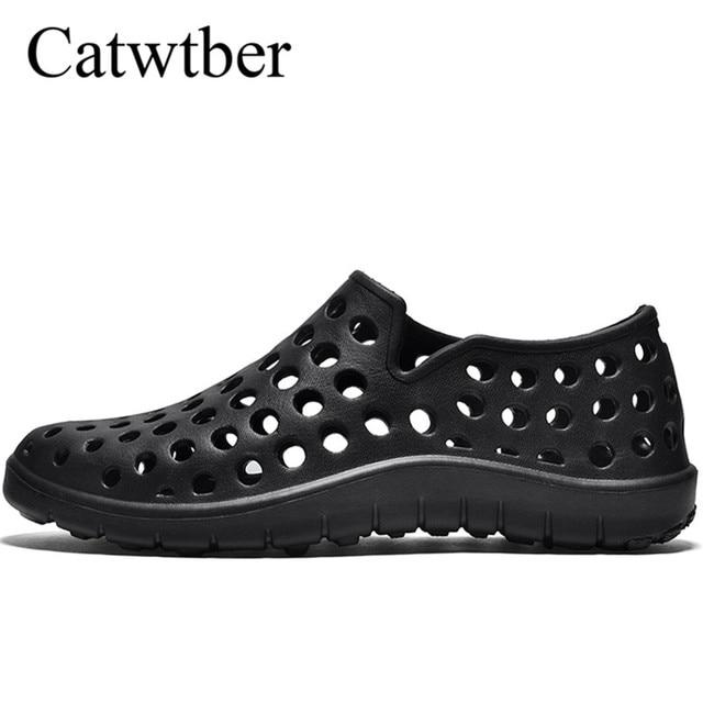 Sandals New Catwtber Men's Croc Summer Lightweight Hollow Male Shoes wUI16xqzI