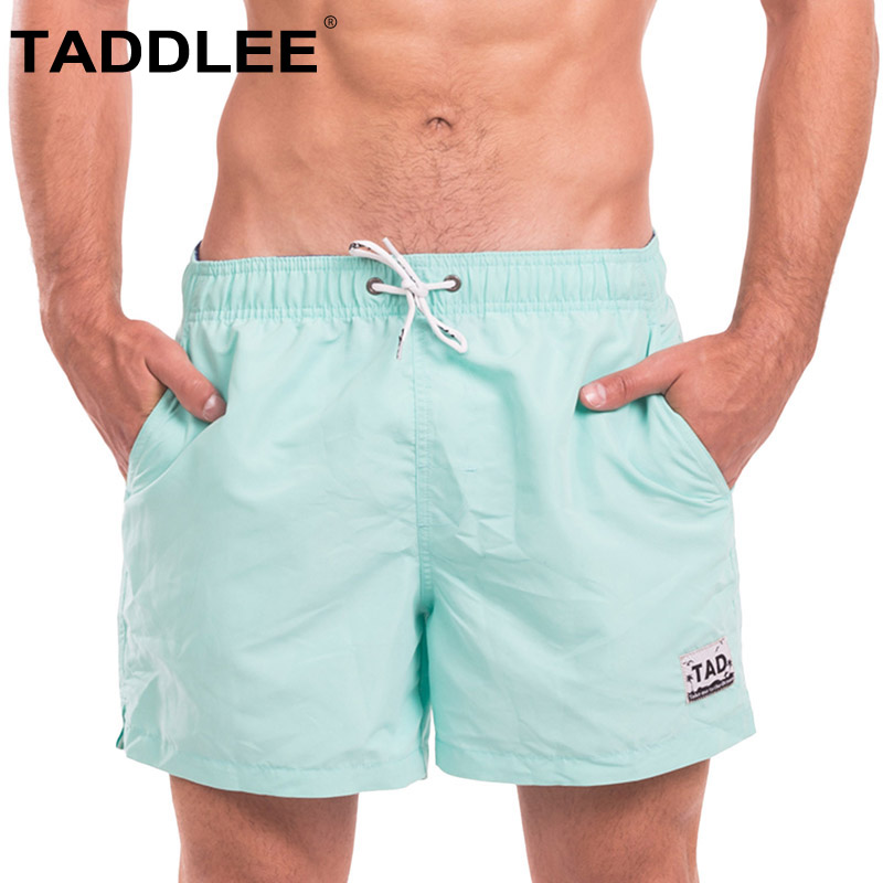 Taddlee Brand Men's Swimwear Swimsuits Swim Beach   Board   Surfing   Shorts   Quick Drying Boxer Trunks Active Bermuda Solid Bottoms