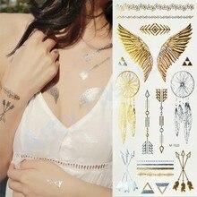 1Pcs Body Paint makeup gold tattoo flash tattoos temporary tattoo makeup metalic tatto body bronzer maquillaje face paint