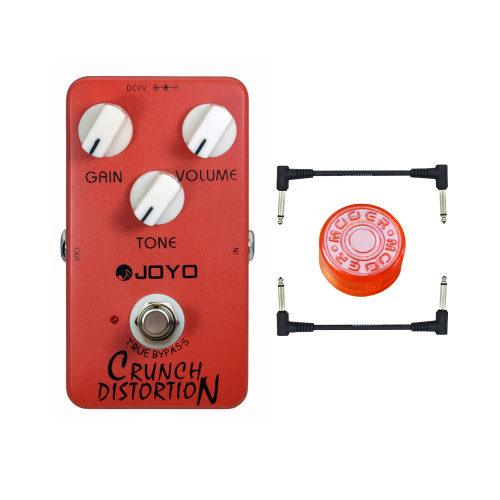 JOYO JF-03 British Classic Rock Crunch Distortion replicates Full-Stack Gain Settings and Tone Guitar Effect Pedal joyo crunch distortion electric guitar effect pedal true bypass classic british rock tone jf 03 with free connector