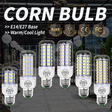 цены E27 Led Bulb Corn Lamp SMD 5730 Light Bulb E14 Bombillas 24 36 48 56 69 72leds Lampara GU10 Led Chandelier Candle Light 220-240V