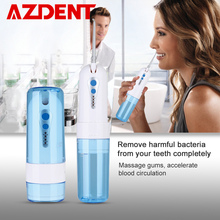 Collapsible 4 Modes Water Dental Flosser Portable Fold Oral Irrigator USB Rechargeable Waterproof 200ml Water Tank + 5 Jet Tips