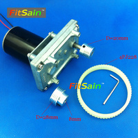 FitSain 24V 60rpm Gear Motor Double Ball Bearing Shaft 8mm Belt Spindle Mini Drill Press Mini