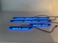eOsuns LED moving door scuff Nerf Bars & Running Boards dynamic door sill light plate overlays linings for subaru STI
