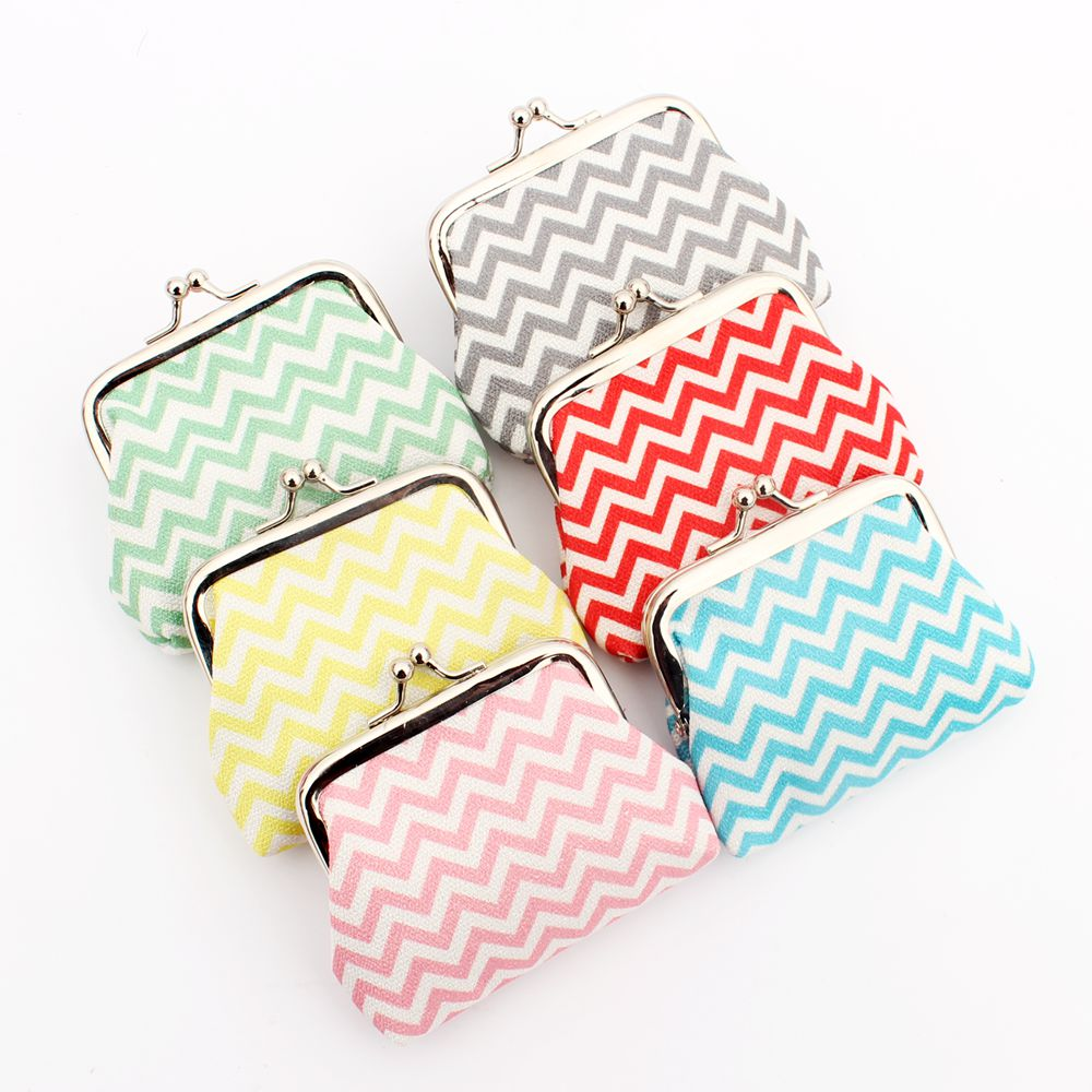 Lovely Water wave grain Kids purse women Hasp coin bags Mrs zero wallet,female cloth coin purse,Lady change purse pouch handbags стоимость