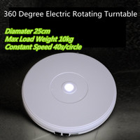 10 25cm LED Light 360 Degree Electric Rotating Turntable for Photography accessories Max Load 10kg 220V