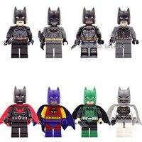 8pcs Batman Super Heroes DC Movie Bruce Wayne Dark Knight Building Blocks Bricks Figures Boy Toy