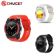 Chycet V8 Smart Watch support Sim TF Card Bluetooth Clock with 0.3M Camera Smart Watch for Android Phone PK DZ09 U8 GV18 GT08