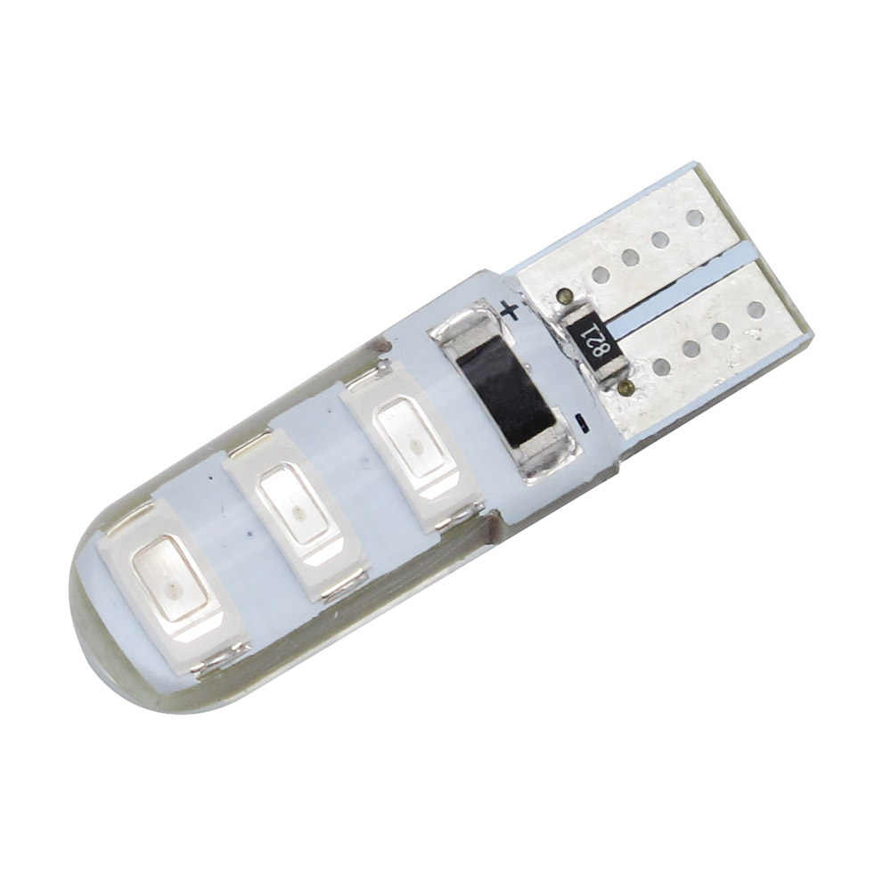 1 Pc T10 W5W 6 Smd 5730 Led Auto Leeslamp Kentekenverlichting Lamp Wedge Light Auto Parking Lamp 5630 smd 12V Dc