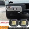 Pair 18W FLUSH MOUNT LED WORK LIGHT 12V 24V Rear Fog Lamp 4X4 Offroad Trailer Truck