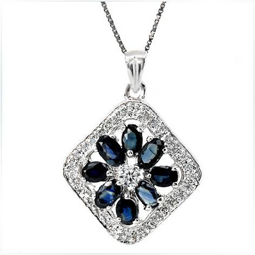 2017 Collares Qi Xuan_Dark Blue Stone Flower Pendant Necklace_Real Necklace_Quality Guaranteed_Manufacturer Directly Sales 2017 Collares Qi Xuan_Dark Blue Stone Flower Pendant Necklace_Real Necklace_Quality Guaranteed_Manufacturer Directly Sales