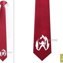 """Супер Саян Гоку Dragon Ball Z Мужские жаккардовые тканые узкие 2,"""" галстук 6 см галстук вечерние галстук для жениха запонки LK072M"""