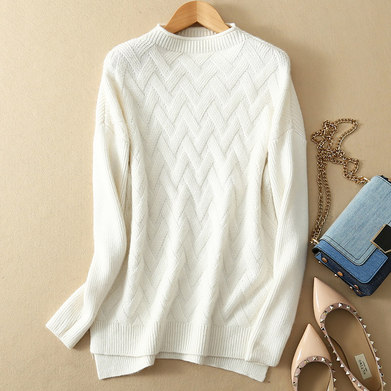 17 new winter sweater women pure cashmere pullover cross argyle pattern lady warm sweater