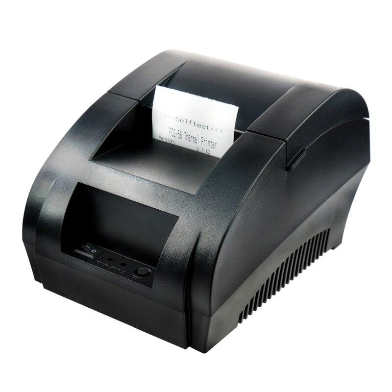 Nouvelle arrivée interface USB 58mm pos imprimante ticket impression thermique avec alimentation intégrée dans l'expédition libre