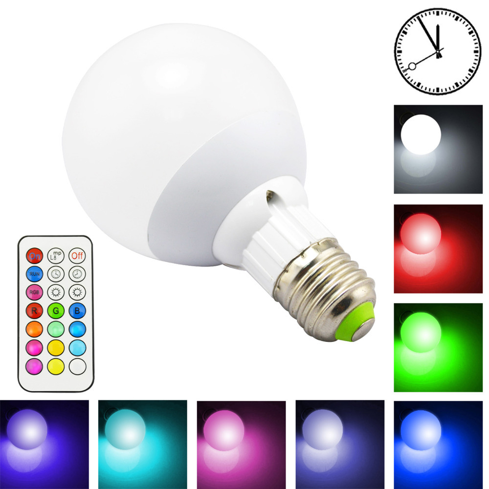 10W 800LM E27 RGB LED Light Bulb 12 Color Warm White Dimmable Lamp RGBW  Bulb Led Lamps With Remote Control Timing Function In LED Bulbs U0026 Tubes  From Lights ...