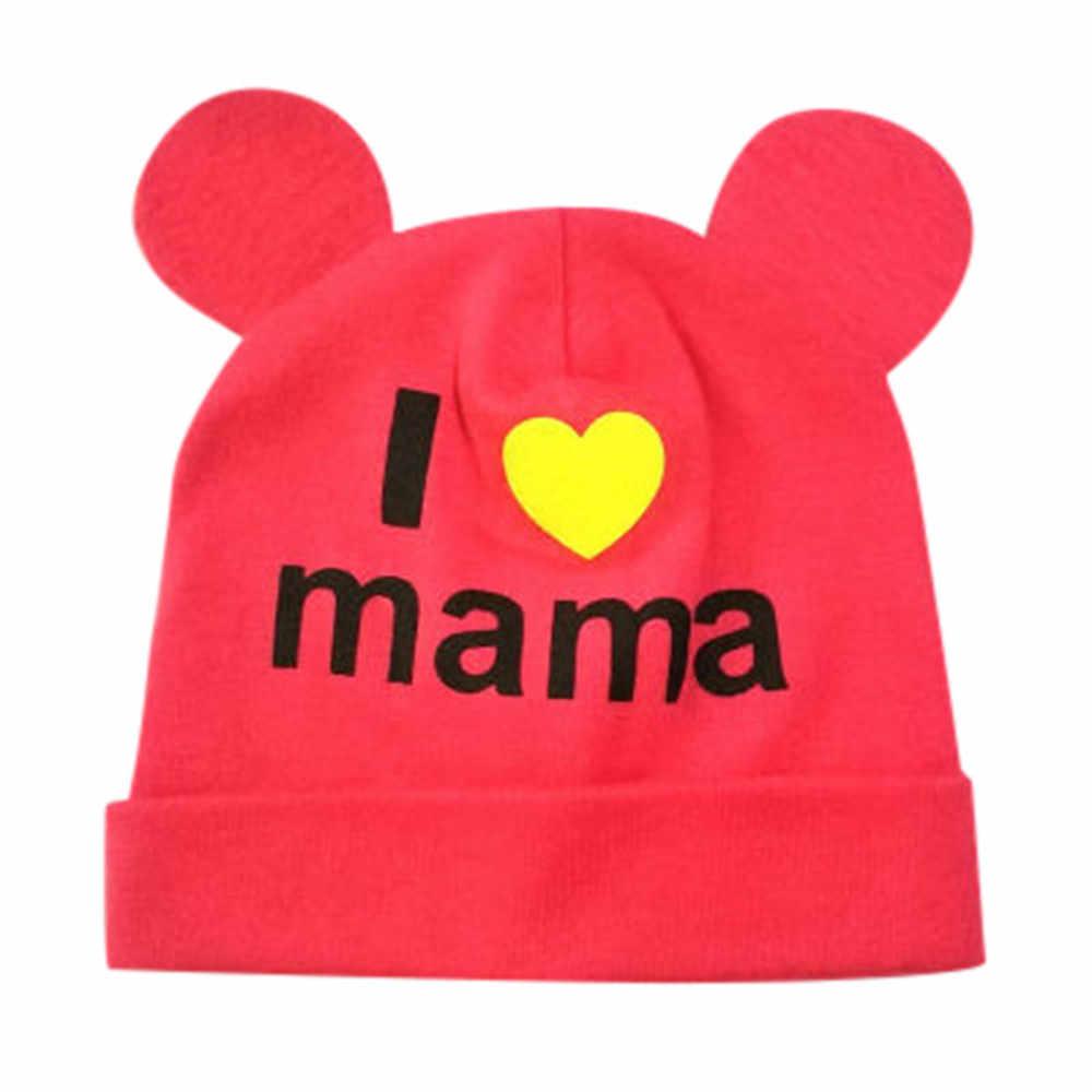 เด็กทารกน่ารักหมวกเด็กฤดูใบไม้ร่วง Winte หมวกการ์ตูน Love Letter พิมพ์ Sleep Caps คุณภาพสูงเด็ก Headwear หมวก #30