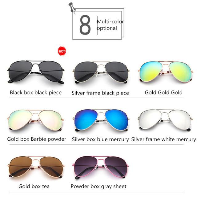 Children Goggle Girls Alloy Sunglasses Hot Fashion Boys Girls Baby Child Classic Retro Cute Sun Glasses