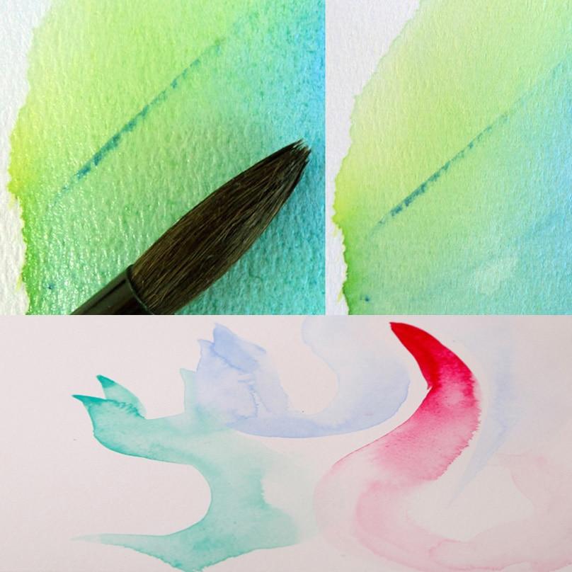 78*57 см Акварельная бумага пустая DIY открытка бумага ручная роспись открытка s белый картон Художественный набор с кистью - 2