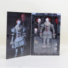 NECA scarry movie Stephen King's It Pennywise Joker clown Action Figure Toys cosplay horror Dolls Halloween Day Christmas Gift(China)