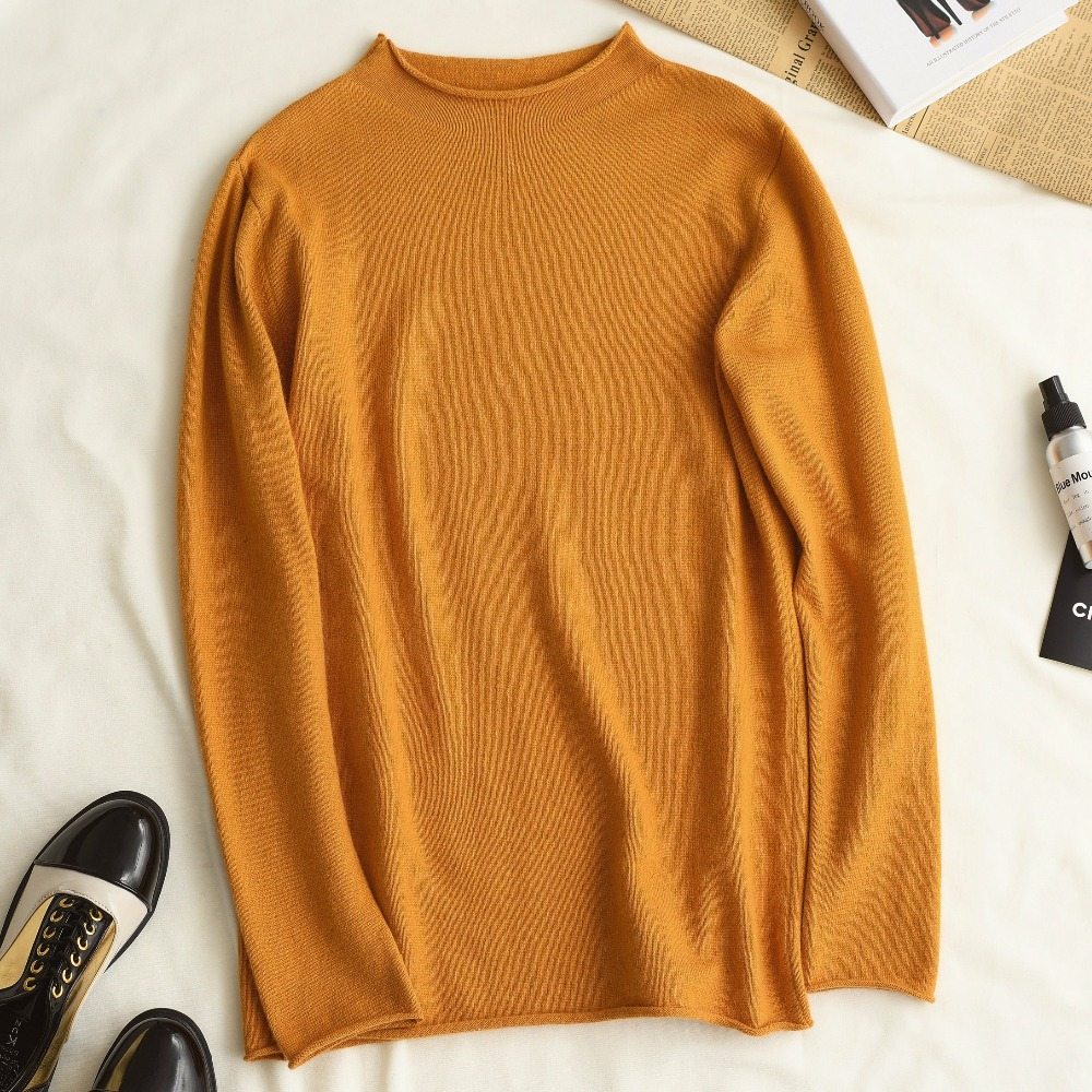 Women Sweaters 100% Cashmere and Wool Pullovers Hot Sale Oneck Spring Clothes Fashion Knitwear Woman Sweater Standard Jumpers