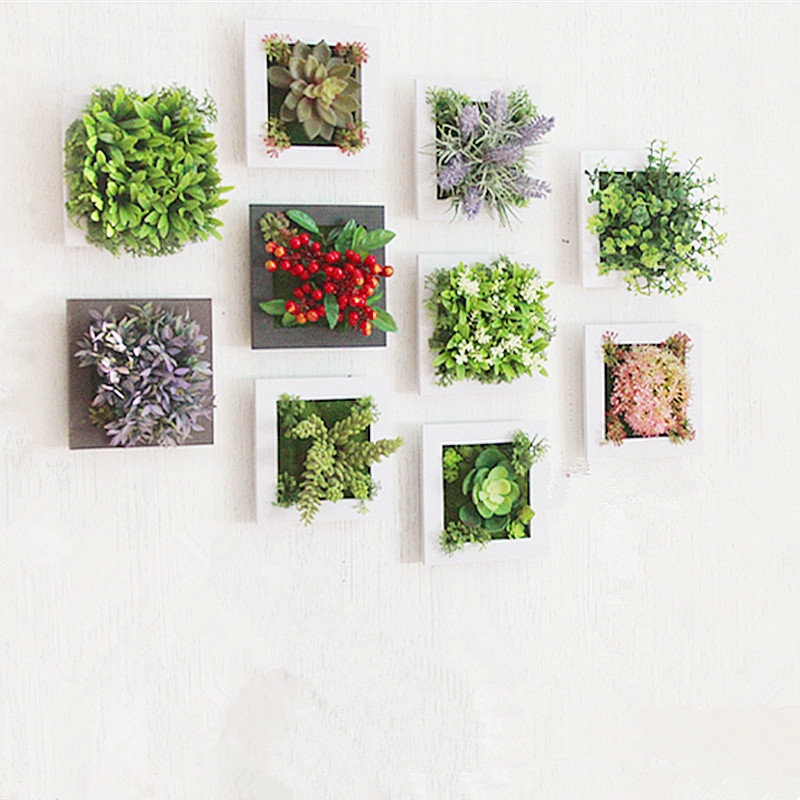 Flowers Decoration For Home: Aliexpress.com : Buy 3D Creative Metope Succulent Plants