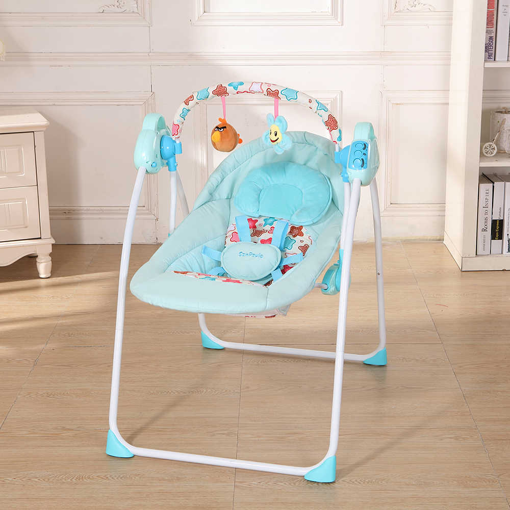 2018 Новый электрический детский колыбель-качели, качалка, мобильное музыкальное кресло, спальный корзина-кровать, кроватка для новорожденных