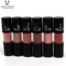 MISS ROSE Make up Matte Lipstick Lips Gloss Waterproof Liquid Lipstick Nutritious Easy To Makeup Matt LipGloss
