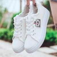 Spring Women Shoes 2018 New Fashion Women S Vulcanize Shoes Denim Canvas Shoes Female Casual Solid
