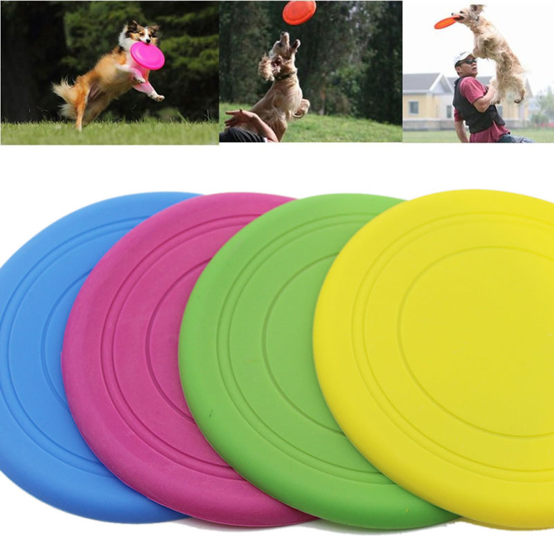 Dogs Toys Pets Silicone Frisbee Flying Disc Outdoor Playing Toy Resistance to bite Toys For Pet Dog Cat +Z