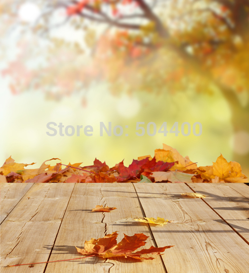 5x7ft Art fabric backdrop photography background autumnal scenery backdrop yellow autumn baby background  D-2783