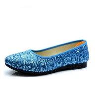 De nieuwe 2017 katoenen doek schoenen lichter ronde hoofd platte zachte bodem schoenen formele zwangere vrouwen schoenen, werkschoenen
