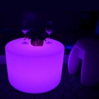 SK LF21 D56 H36cm Lighting Cylinder Shape Bar Furniture Coffee Pillar Table For Garden Outdoor Wedding