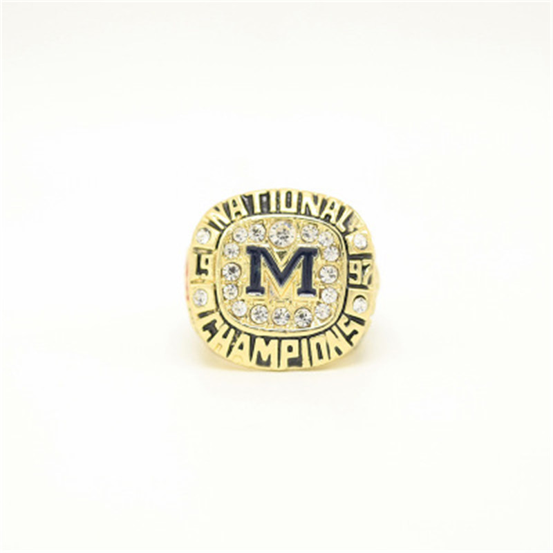 FGHGF Hot Sale 1997 Michigan State University Annual Champion Ring Fashion High Quality Ring and Fine Wooden Gift Box Gift