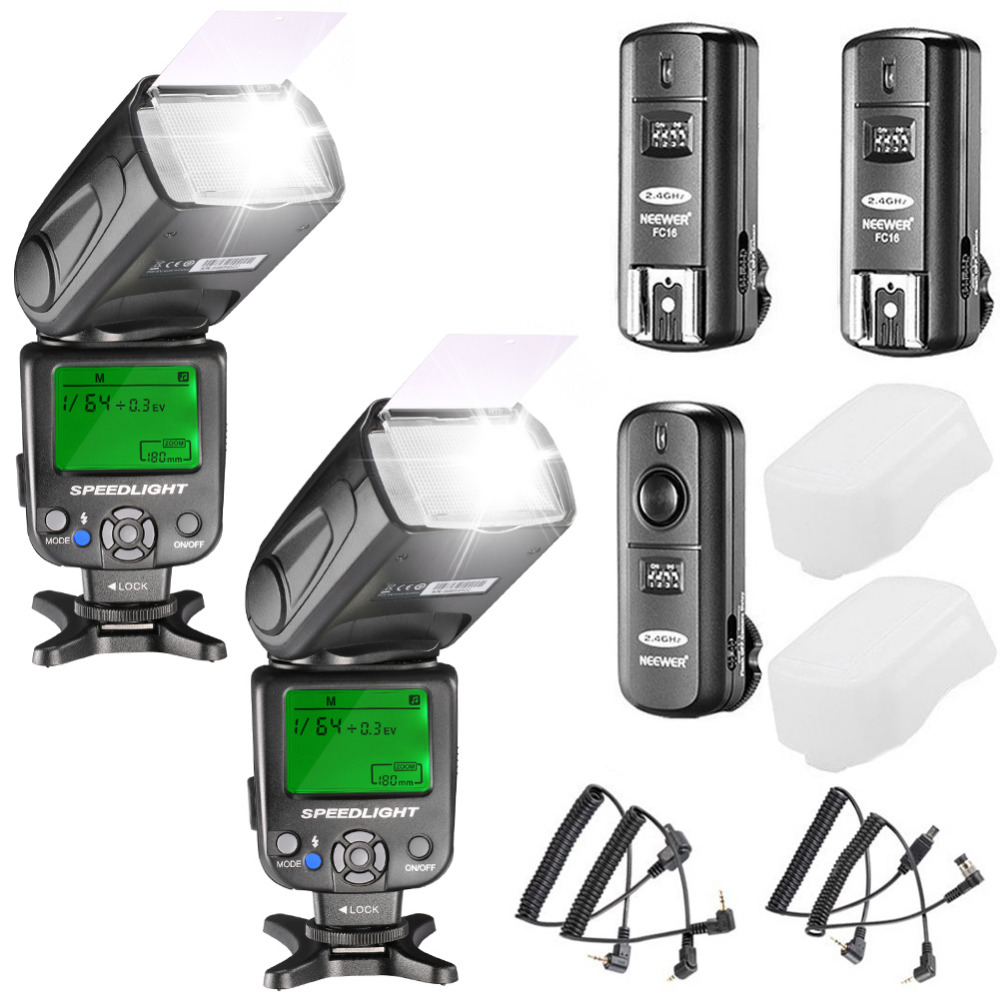 Neewer NW620 Manual Flash Speedlite Kit for Canon Nikon Panasonic Olympus Pentax and Other DSLR Cameras 3pcs yongnuo yn560 iv flash speedlite speedlight for canon nikon pentax olympus panasonic wireless support rf602 rf603 rf605