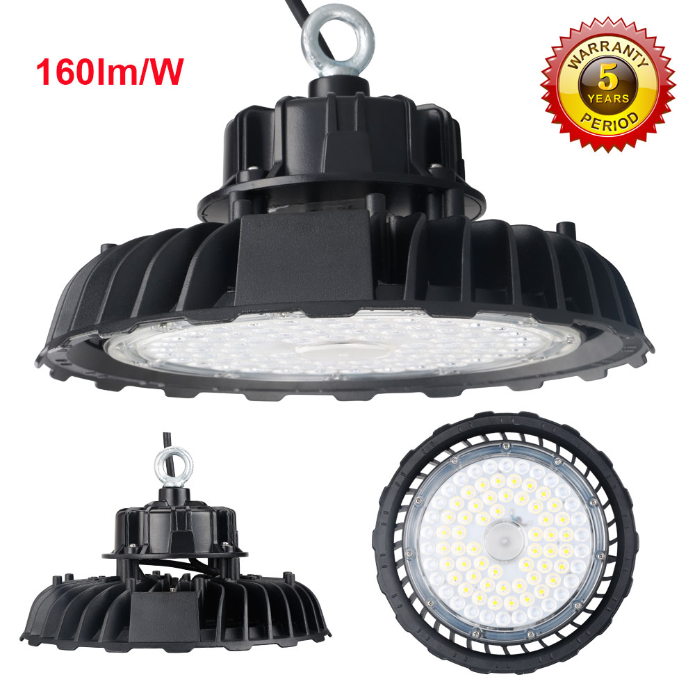 5years warranty 150W led highbay light 160lm W UFO high bay light for badminton court Baseball
