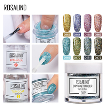 ROSALIND Dip Powder Nail Art Polish Holographic Glitter Gradient Shining Chrome Pigment Dipping Set Flakes Sequins