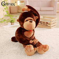 High Quality 1pc 80cm Super Funny Orangutan Plush&Stuffed Toy Cute Monkey Diamond Cartoon Doll Birthday Gift For Kids Children