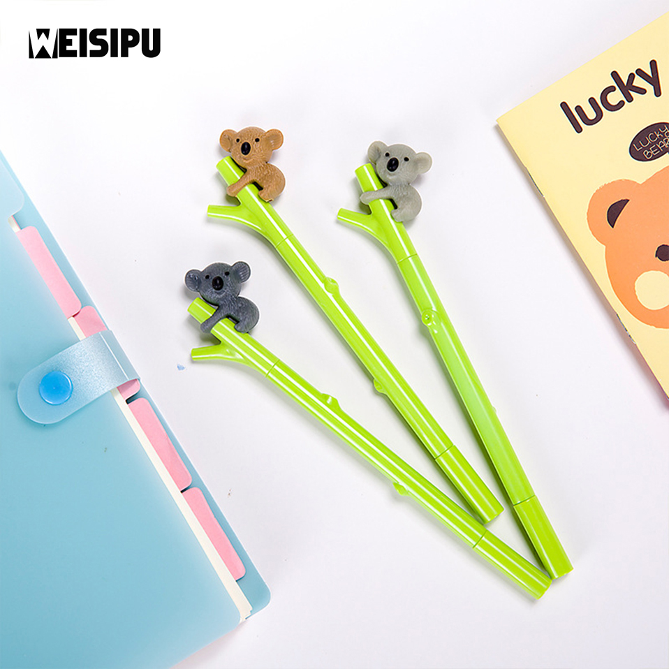 WEISIPU 1Pc Novelty Koala Gel Ink Pen Business Gift Stationery School Office Supply Party Little Gifts Party Favors