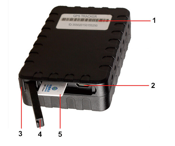 IP65 Waterproof 6000mah battery T119 GPS Tracker Magnet Android IOS App for container bulk inventory sim
